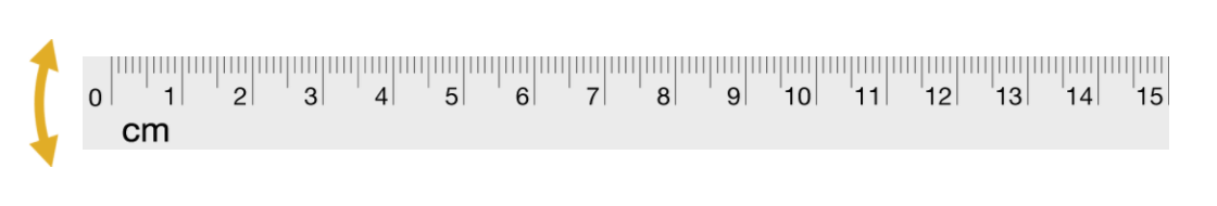 Ruler with a rotate icon