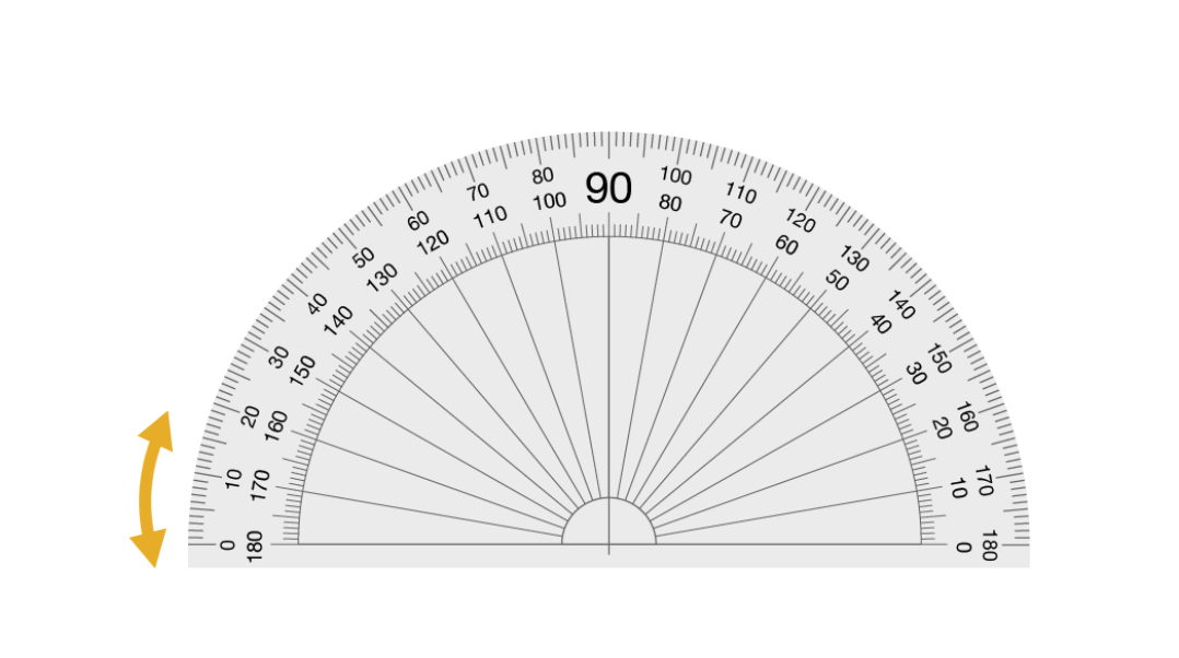 Protractor with rotate icon.