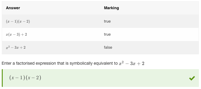 Combining isFactorised with equivSymbolic