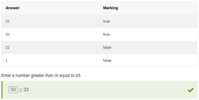 isTrue in a Cloze Math question